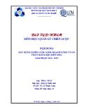 Bài tập nhóm Quản trị chiến lược: Xây dựng chiến lược kinh doanh công ty cổ phần bánh kẹo Biên Hòa giai đoạn 2013 - 2015