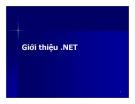 Bài giảng Lập trình hướng đối tượng - Giới thiệu . NET