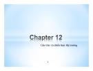 Bài giảng Thị trường tài chính - Chương 12: Cấu trúc và chiến lược thị trường