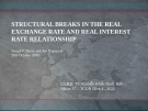 Thuyết trình: Structural breaks in the real exchange rate and real interest rate relationship