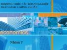 Thuyết trình: Phương thức các doanh nghiệp phát hành chứng khoán