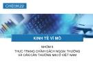 Thuyết trình: Thực trạng chính sách ngoại thương và cán cân thương mại ở Việt Nam