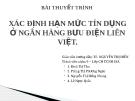 Bài thuyết trình: Xác định hạn mức tín dụng ở Ngân hàng Bưu điện Liên Việt