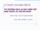 Thuyết trình lý thuyết tài chính tiền tệ: Thị trường dịch vụ bảo hiểm Việt Nam trước xu thế hội nhập