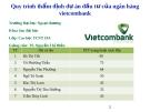 Thuyết trình: Quy trình thẩm định dự án đầu tư của ngân hàng Vietcombank