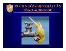 Bài giảng RLCH nước - điện giải cân bằng Acid - base