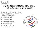 Đề tài: Tổ chức thương mại WTO cơ hội và thách thức