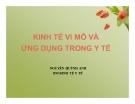 Bài giảng Kinh tế vi mô và ứng dụng trong y tế - Nguyễn Quỳnh Anh