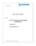 Bài tập nhóm chủ đề: Cơ Cấu Tổ Chức Tại Ngân Hàng EXIMBANK