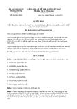 Quyết định số 906/QĐ-UBND năm 2013 tỉnh Kon Tum