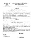 Quyết định 3996/QĐ-BVHTTDL năm 2013