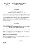 Quyết định 3989/QĐ-BVHTTDL năm 2013