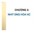 Bài giảng Chương 3: Nhiệt động hóa học