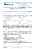 Tuyển chọn những bài tập hay và khó môn Hóa học - Đề 02