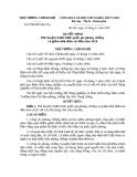 Quyết định 172/2007/QĐ-TTg năm 2007