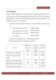 Bài tập Kế toán quản trị kèm lời giải - Phần dự toán