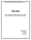 Tiểu luận: Thấu chi trên tài khoản tiền gửi cá nhân tại ngân hàng ngoại thương Việt Nam