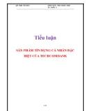 Tiểu luận: Sản phẩm tín dụng cá nhân đặc biệt của Techcombank
