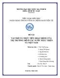 Tiểu luận: Vai trò và thực tiễn hoạt động của thị trường mở ở các nước phát triển và Việt Nam