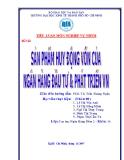 Tiểu luận Nghiệp vụ ngân hàng thương mại: Sản phẩm huy động vốn của ngân hàng đầu tư và phát triển Việt Nam