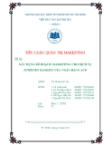 Tiểu luận Quản trị marketing: Xây dựng kế hoạch marketing cho dịch vụ internet banking của ngân hàng ACB