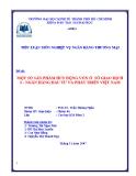 Tiểu luận nghiệp vụ ngân hàng thương mại: Một số sản phẩm huy động vốn ở sở giao dịch 2 - ngân hàng đầu tư và phát triển Việt Nam