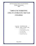 Tiểu luận Quản trị marketing: Chiến lược marketing công ty cổ phần sữa Việt Nam (Vinamilk)