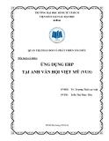 Tiểu luận Quản trị thay đổi và phát triển tổ chức: Ứng dụng ERP tại Anh văn hội Việt Mỹ (VUS)