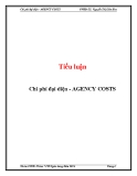 Tiểu luận: Chi phí đại diện - AGENCY COSTS