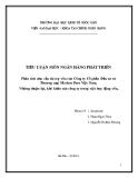 Tiểu luận tài chính ngân hàng và sự phát triển: Phân tích nhu cầu tài trợ vốn của Công ty Cổ phần Đầu tư và Thương mại Modern Fare Việt Nam. Những thuận lợi, khó khăn của công ty trong việc huy động vốn