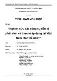 Tiểu luận: Nghiên cứu các công cụ tiền tệ phái sinh và thực tế áp dụng tại Việt Nam như thế nào?