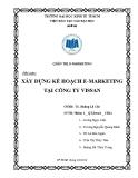 Tiểu luận quản trị marketing: Xây dựng kế hoạch e-marketing tại công ty Vissan
