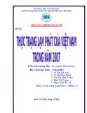 Tiểu luận tài chính quốc tế: Thực trạng lạm phát của Việt Nam trong năm 2007