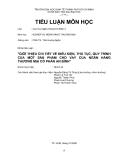 Tiểu luận: Giới thiệu chi tiết về điều kiện, thủ tục, quy trình của một sản phẩm cho vay của ngân hàng thương mại cổ phần An Bình