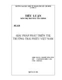 Tiểu luận thị trường tài chính: Giải pháp phát triển thị trường trái phiếu Việt Nam