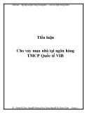 Tiểu luận nghiệp vụ ngân hàng thương mại: Cho vay mua nhà tại ngân hàng TMCP Quốc tế VIB