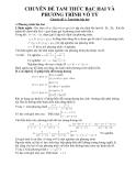 Chuyên đề Tam thức bậc hai và Phương trình vô tỷ