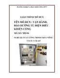 Giáo trình mô đun Vận hành, bảo dưỡng tủ điện điều khiển cống