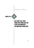 Module Mầm non 4: Đặc điểm phát triển nhận thức, những mục tiêu và kết quả mong đợi ở trẻ mầm non về nhận thức - Nguyễn Văn Lũy, Lê Mỹ Dung