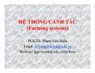 Bài giảng Hệ thống canh tác - PGS.TS. Phạm Văn Hiền