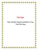 Tiểu luận: Phát Triển Bền Vững Du Lịch Biển Gò Công Tỉnh Tiền Giang