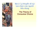 Bài giảng Kinh tế vi mô: Chương 2 - TS. Nguyễn Tiến Dũng