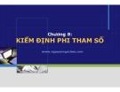 Bài giảng Nguyên lý thống kê: Chương 8 - Nguyễn Ngọc Lam