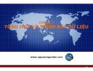Bài giảng Nguyên lý thống kê: Chương 2 - Nguyễn Ngọc Lam