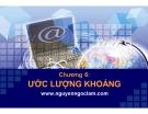 Bài giảng Nguyên lý thống kê: Chương 6 - Nguyễn Ngọc Lam