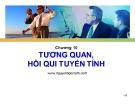 Bài giảng Nguyên lý thống kê: Chương 10 - Nguyễn Ngọc Lam
