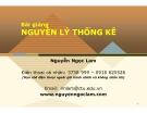 Bài giảng Nguyên lý thống kê: Chương 1 - Nguyễn Ngọc Lam