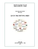 Bài giảng Quản trị thương hiệu - Lâm Hồng Phong - MBA