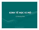 Bài giảng Kinh tế học vĩ mô: Chương 1 - Lê Khương Ninh