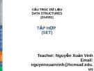 Bài giảng Cấu trúc dữ liệu: Chương 6 - Nguyễn Xuân Vinh